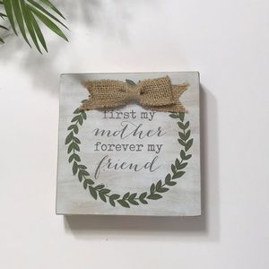 Wood Home Decor Sign 6*6 inch